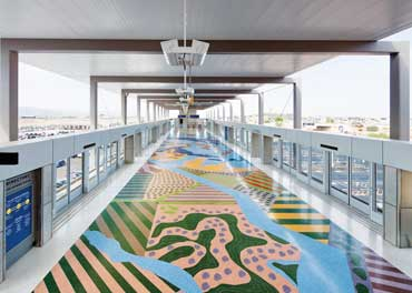Topo Magic -Terrazo Floor - Sky Harbor Airport Phoenix AZ